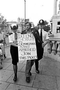Jeremy Corbyn MP is arrested in the mid 1980s