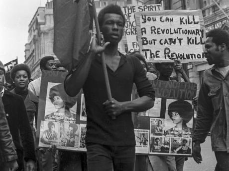 Black Power demo in London.