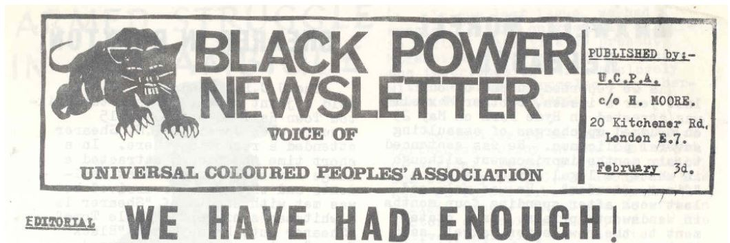 Black Power Newsletter, UCPA, 1969.