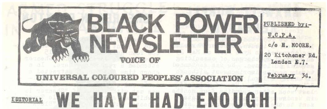 Black Power Newsletter, UCPA, 1969.
