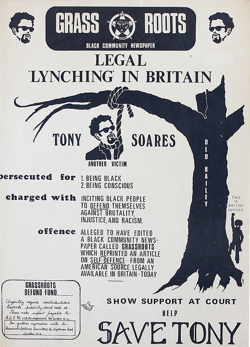 Tony Soares charged, pamghlet, 1973