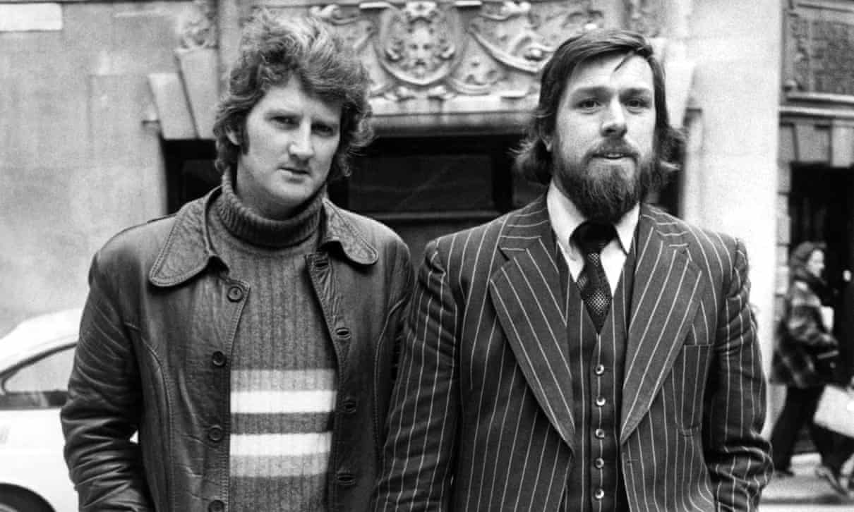 Dennis Warren and Ricky Tomlinson in 1975